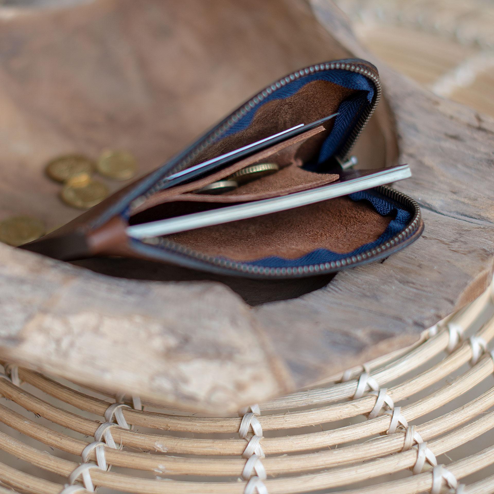 Daron zippered purse / XL - Peat (image n°5)