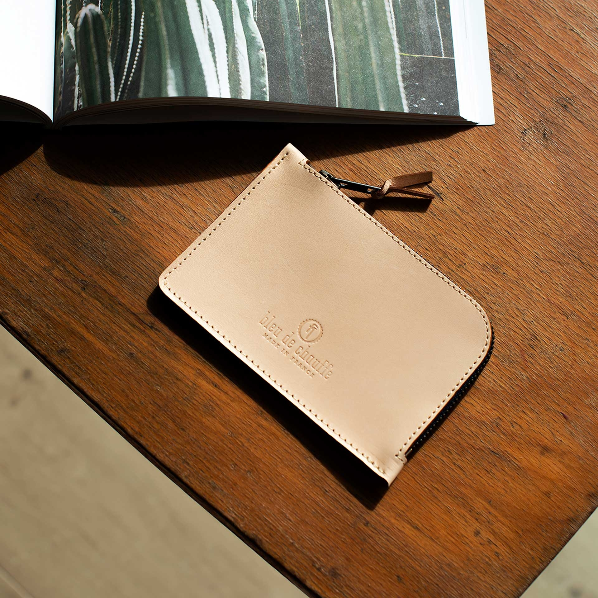 Pognon zippered purse  / L - Peat (image n°4)