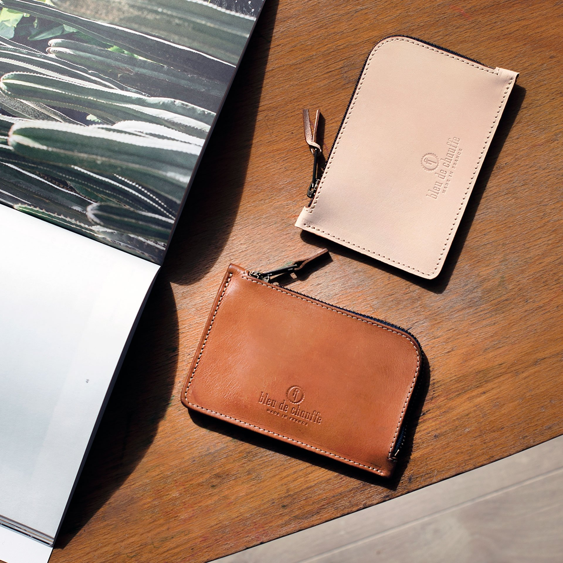Pognon zippered purse  / L - Khaki (image n°5)