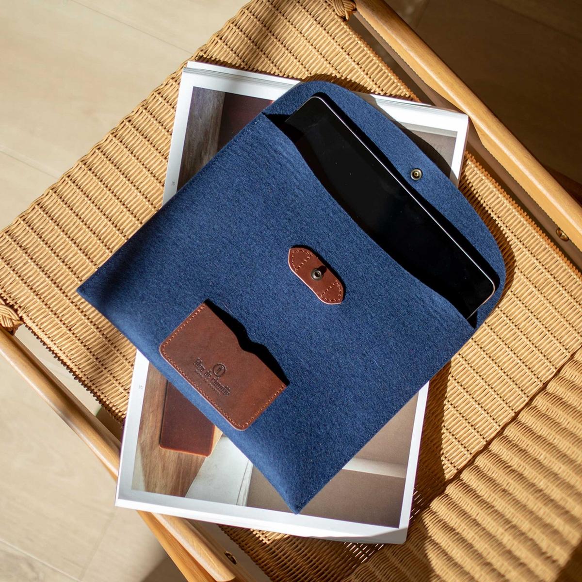 Protection iPad Miky - Feutre Marine (image n°5)