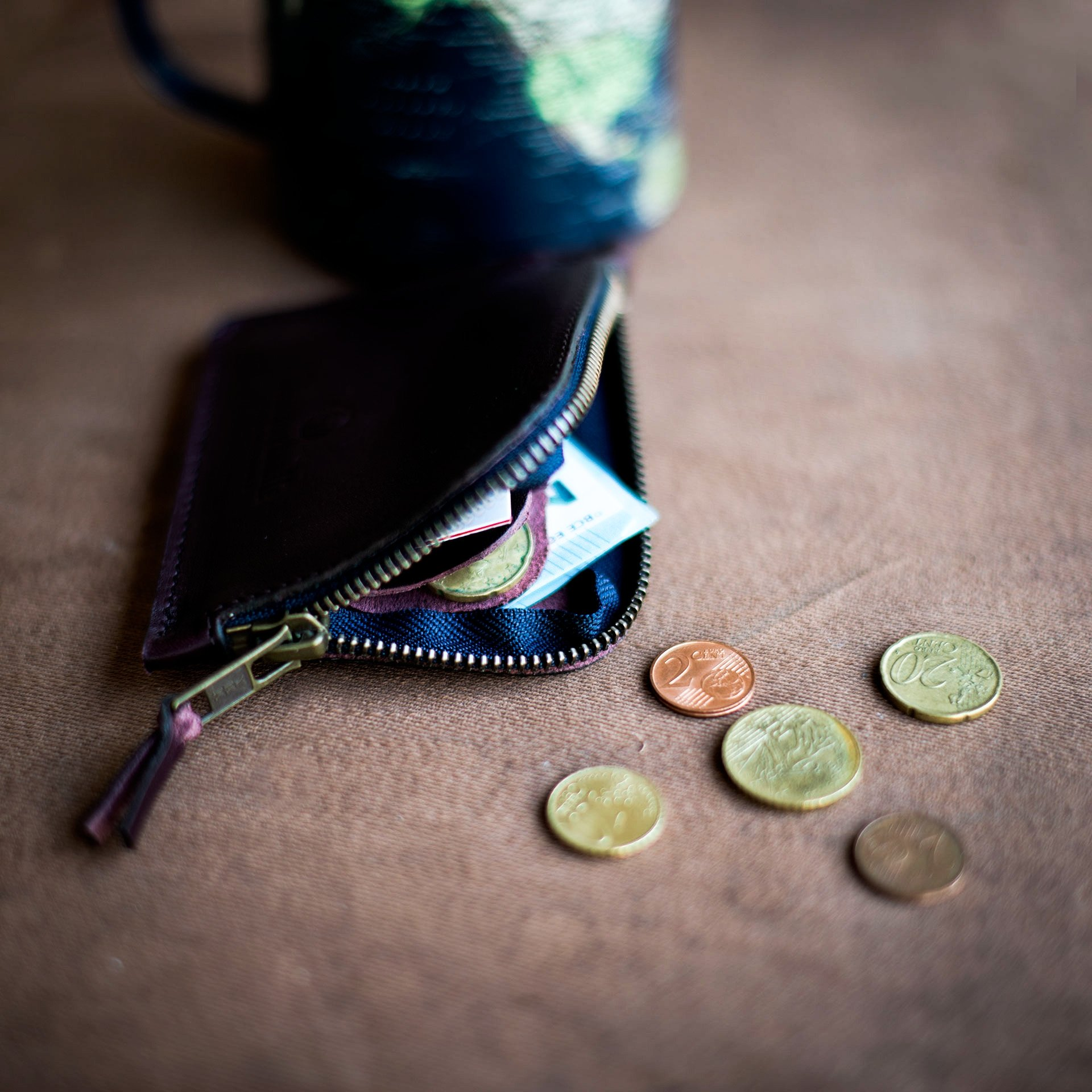 Porte monnaie zippé As / M - Tourbe (image n°5)