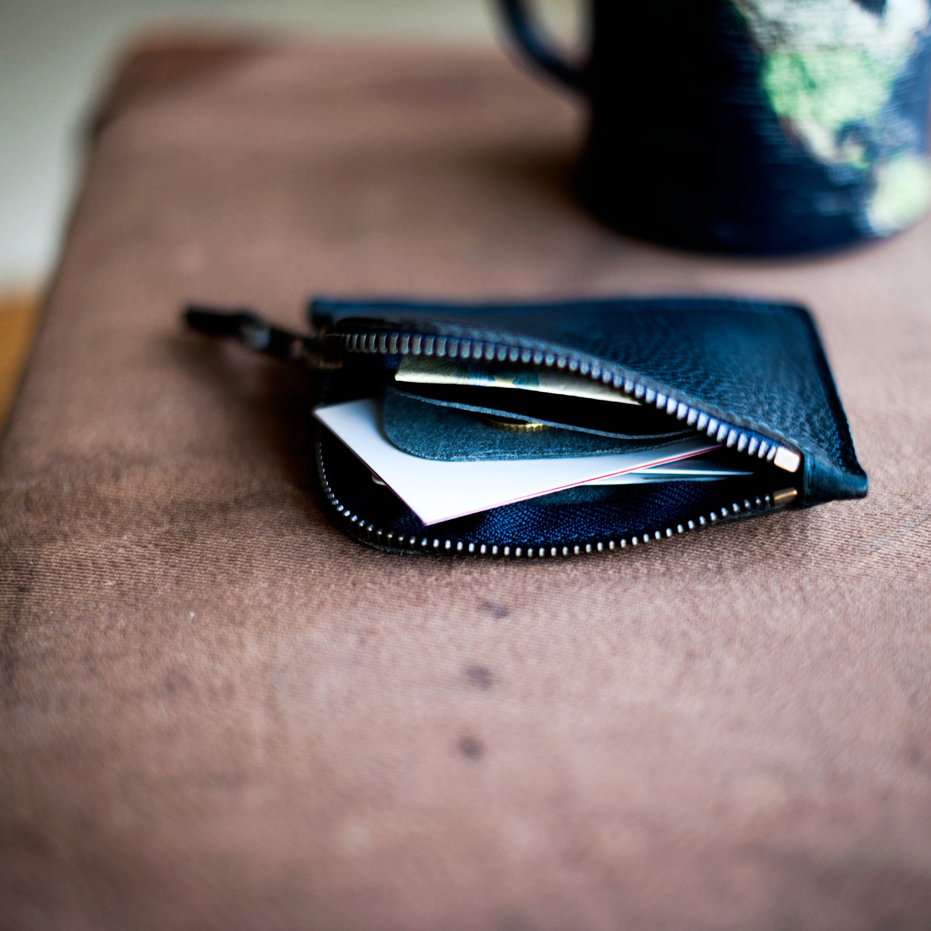 As zippered purse / M - Navy Blue (image n°5)