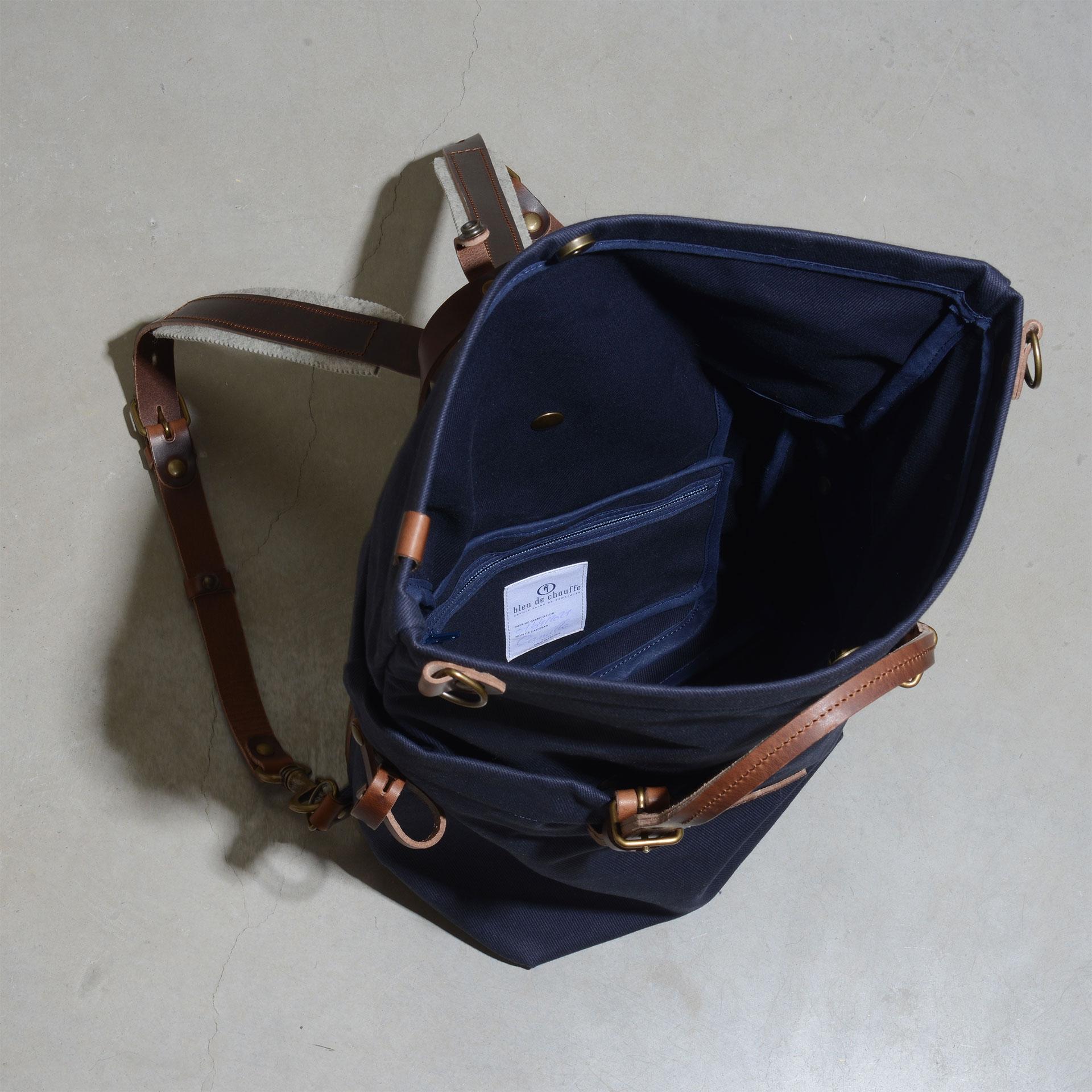 Woody L Backpack - Peacoat Blue (image n°4)