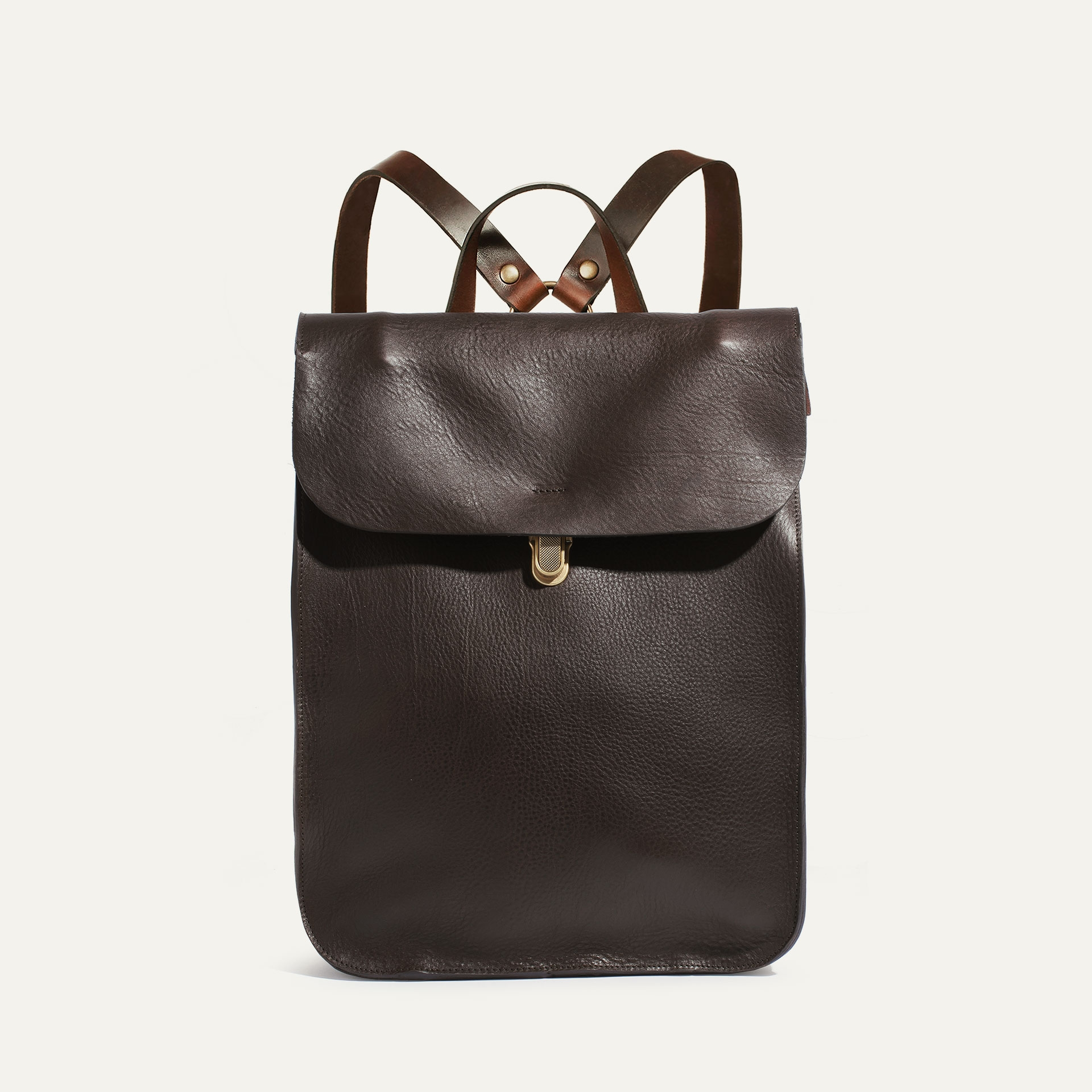Puncho leather backpack - Dark Brown / E Pure (image n°1)