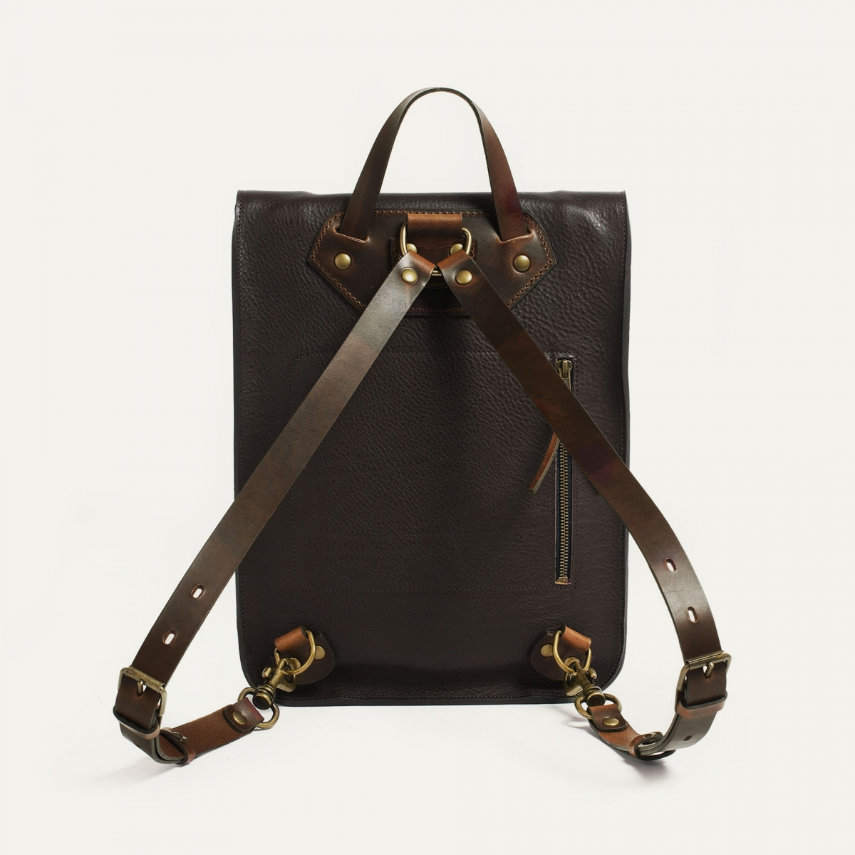 Puncho leather backpack - Dark Brown / E Pure (image n°2)