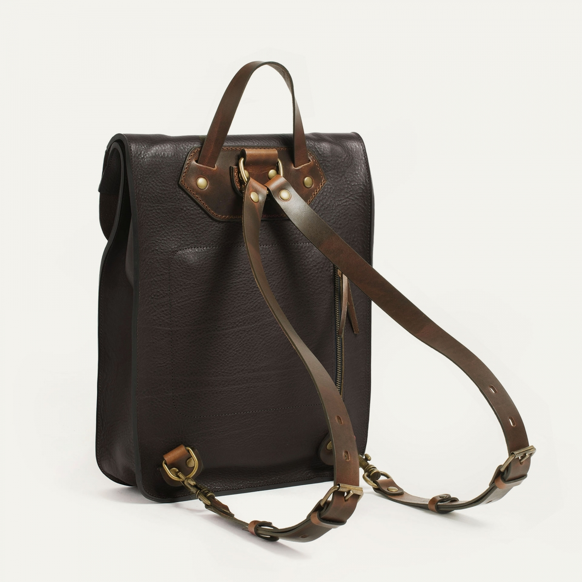 Puncho leather backpack - Dark Brown / E Pure (image n°3)