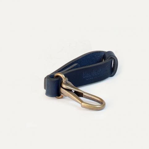 Porte clé Mousse - Bleu Marine