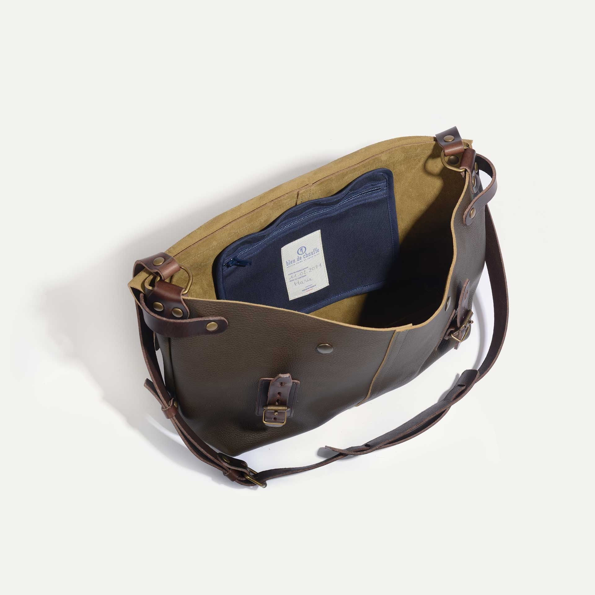 Lucien Satchel bag - Khaki (image n°4)