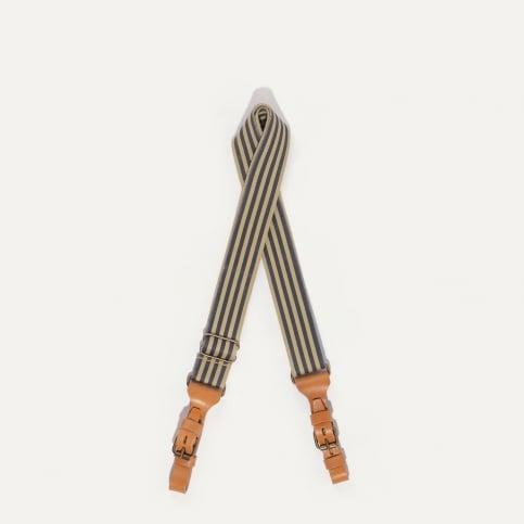 STRIPE shoulder strap - striped Marine Blue