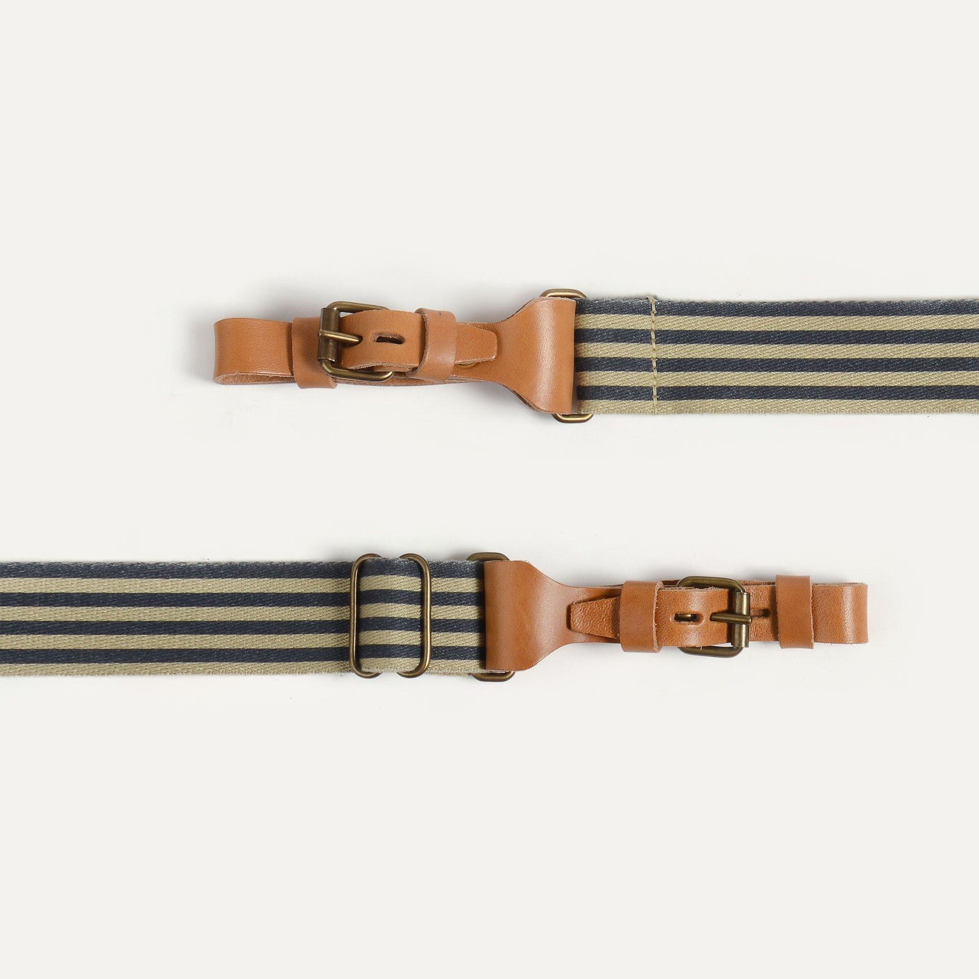 Musette STRIPE shoulder strap - striped Marine Blue (image n°2)