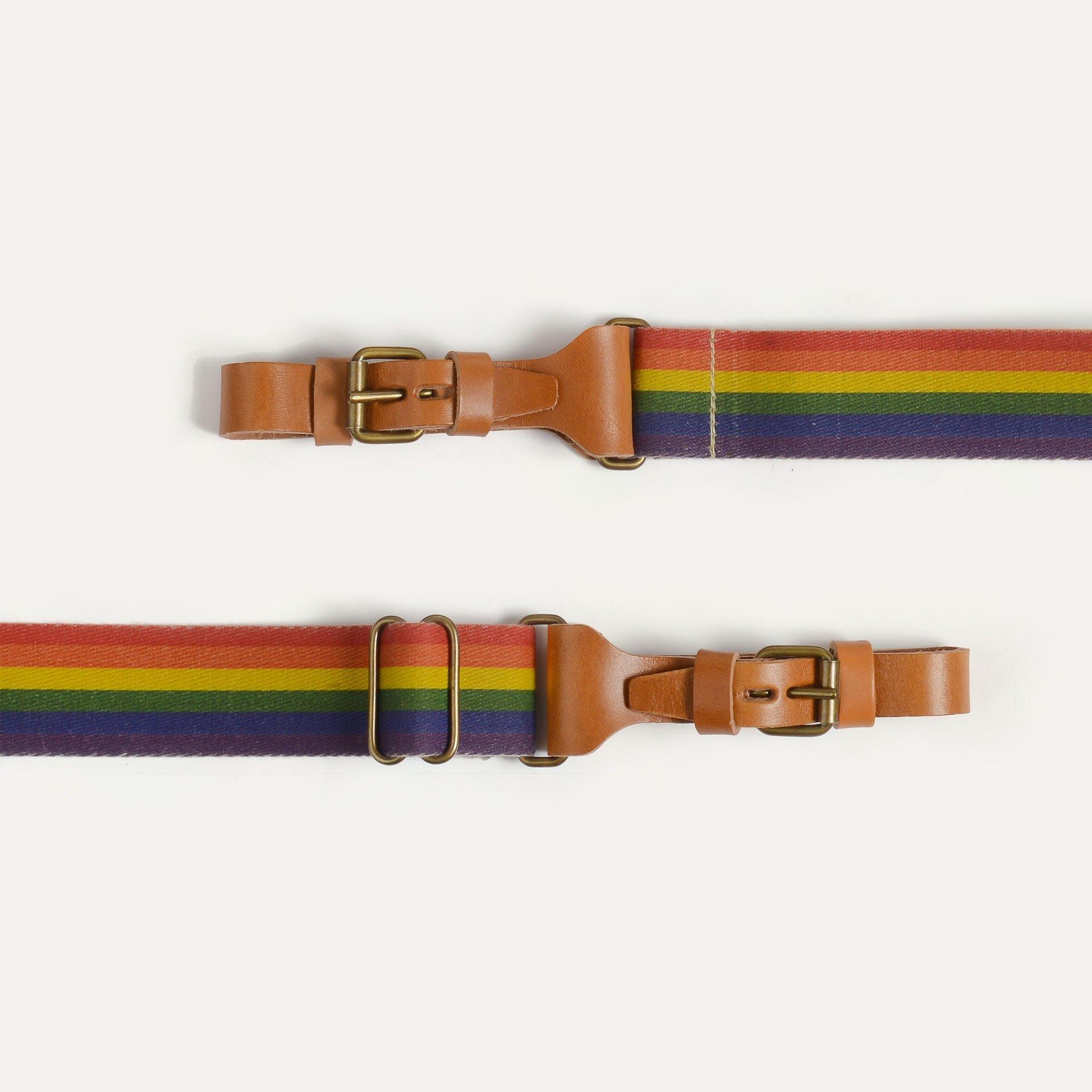 Musette STRIPE shoulder strap - Rainbow (image n°2)