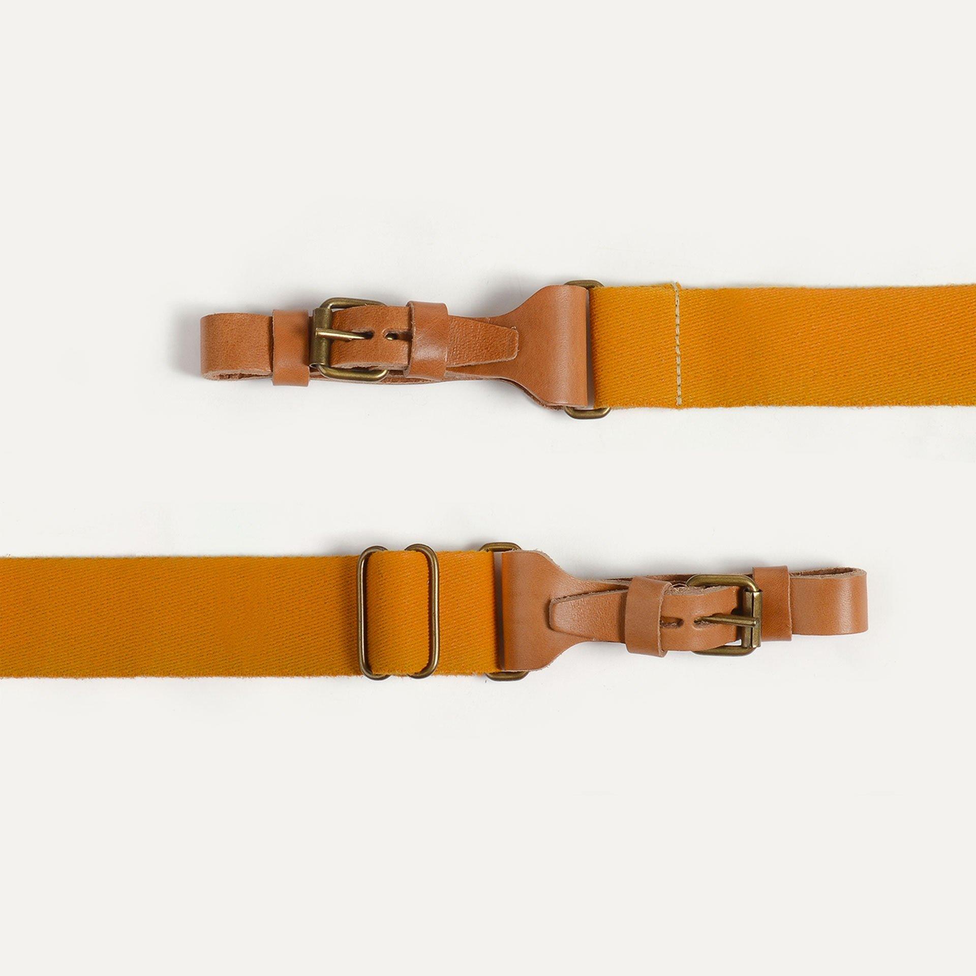 Musette STRIPE shoulder strap - Yellow Ochre (image n°2)
