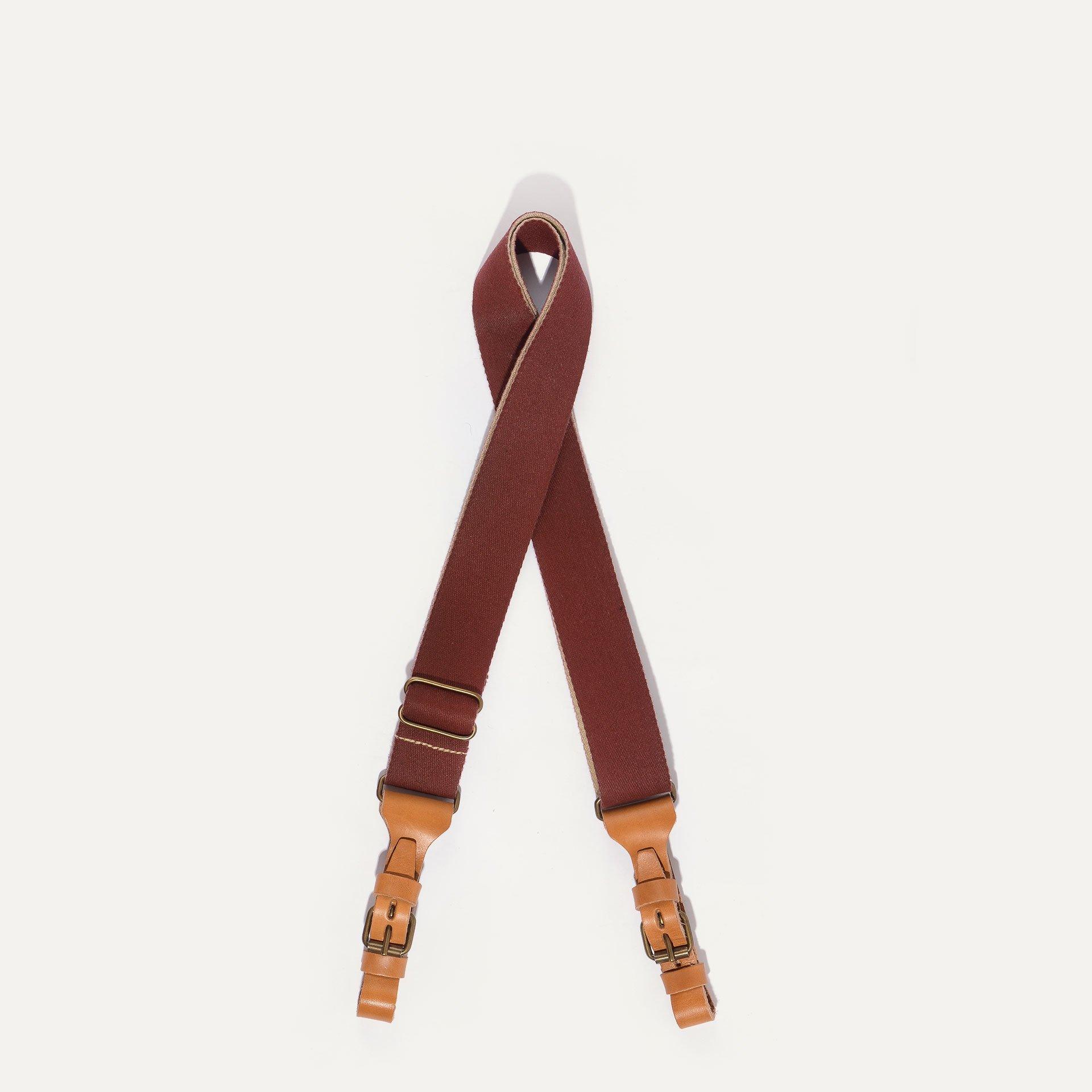 Musette STRIPE shoulder strap - Cardinal red (image n°1)