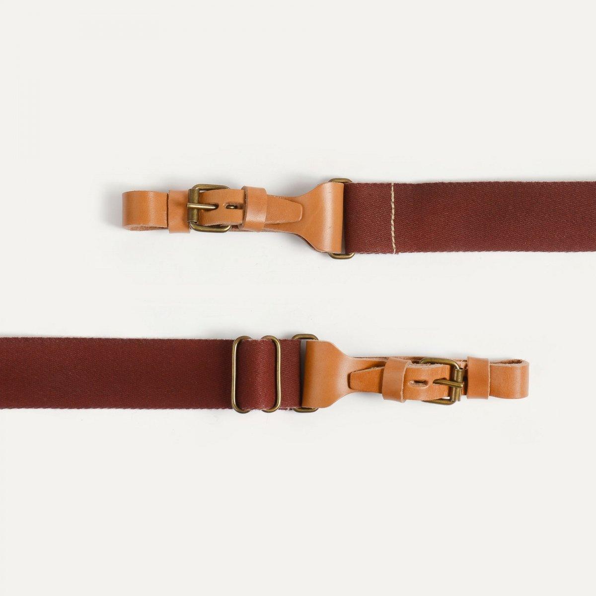 Musette STRIPE shoulder strap - Cardinal red (image n°2)
