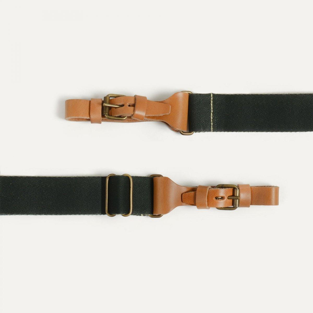 Musette STRIPE shoulder strap - Khaki (image n°2)