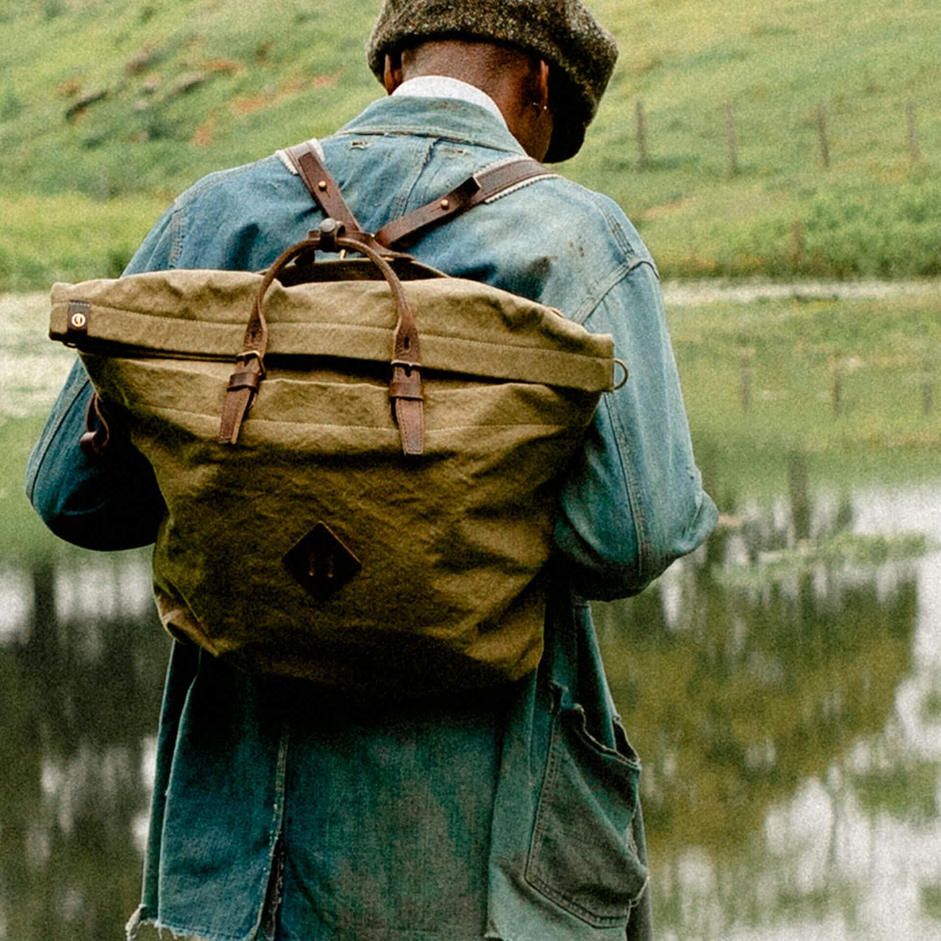 Woody L Backpack - Ecru / Pain Brule (image n°6)