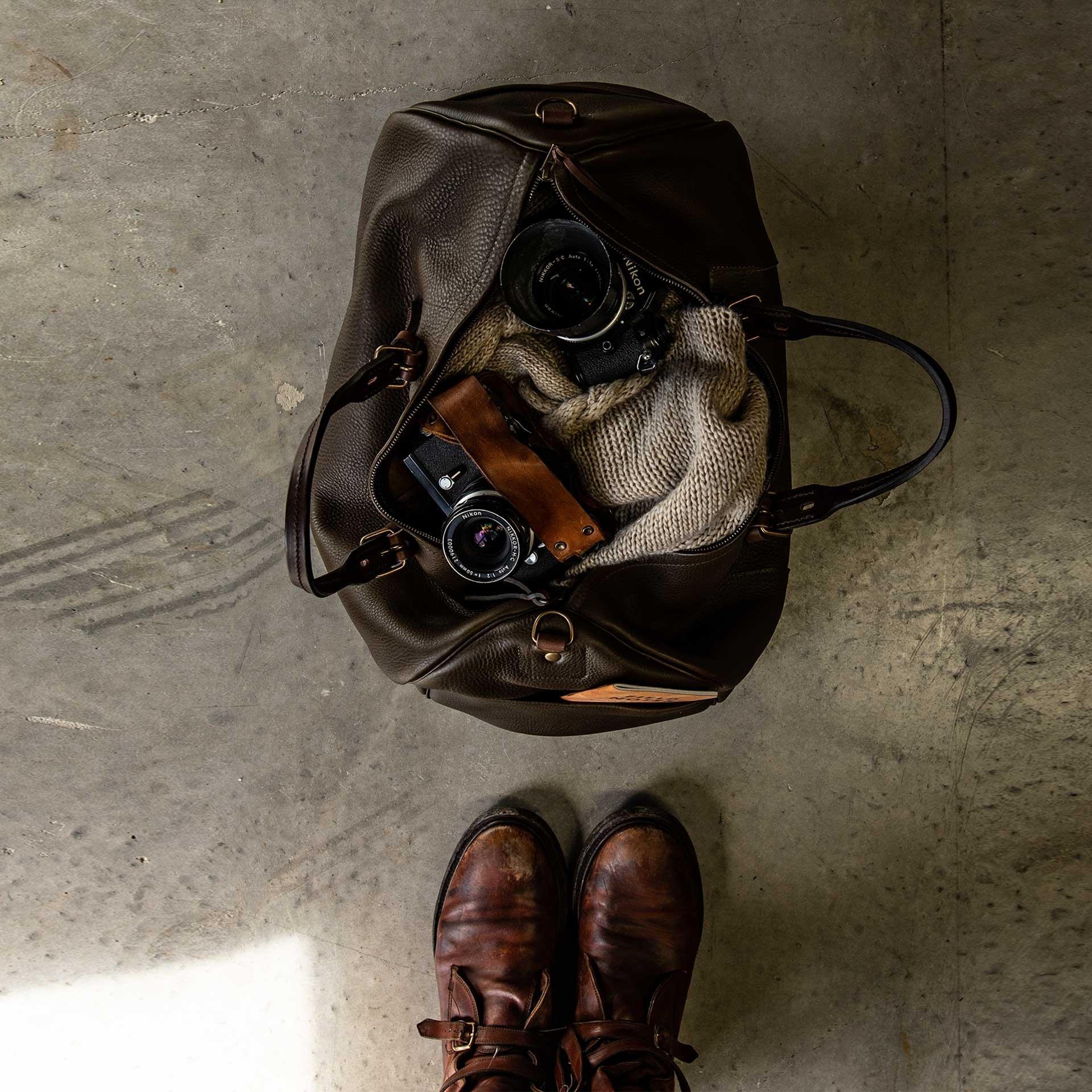Hobo Travel bag - Dark Brown (image n°6)