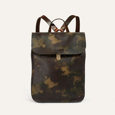 Puncho leather backpack - Camo