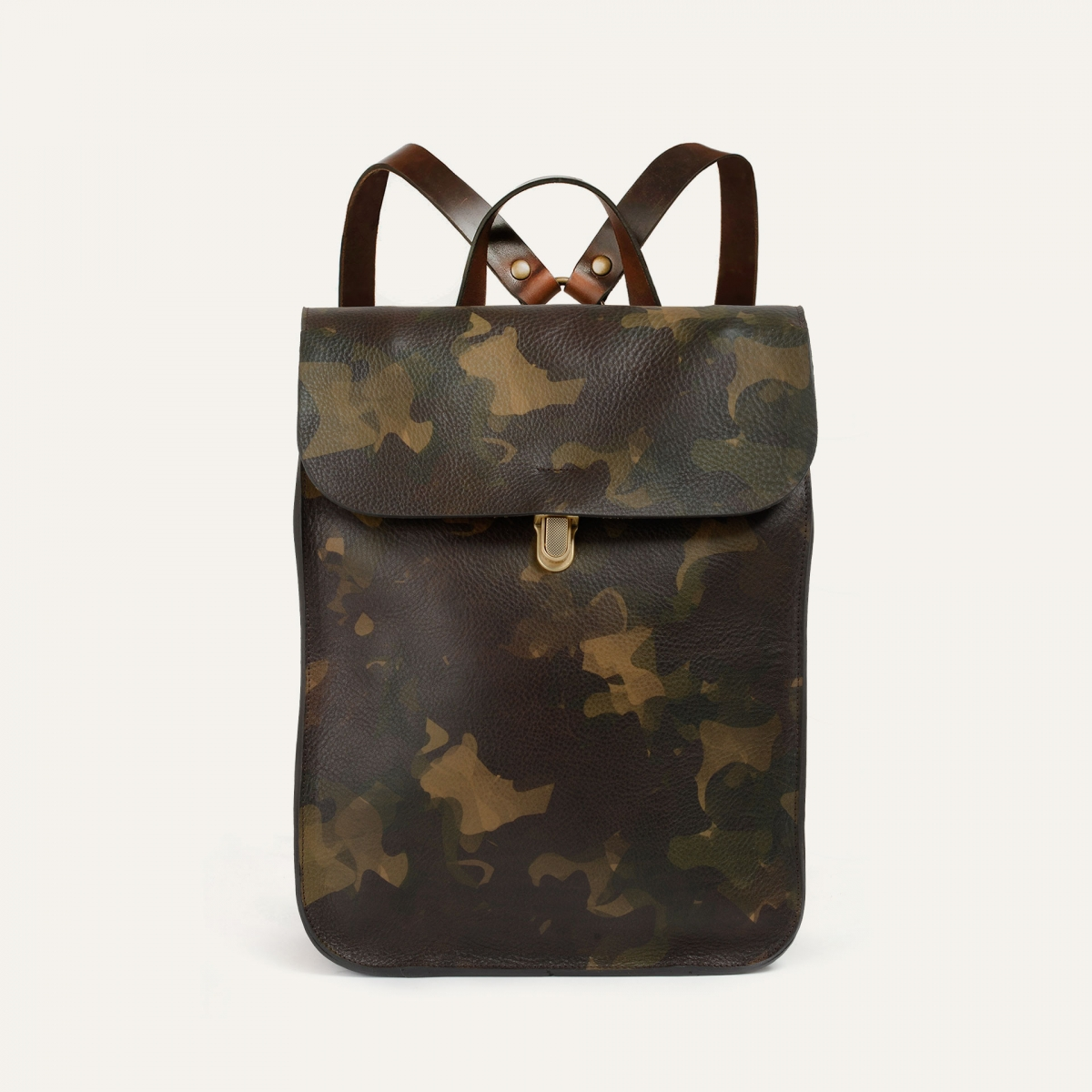 Puncho leather backpack - Camo (image n°1)