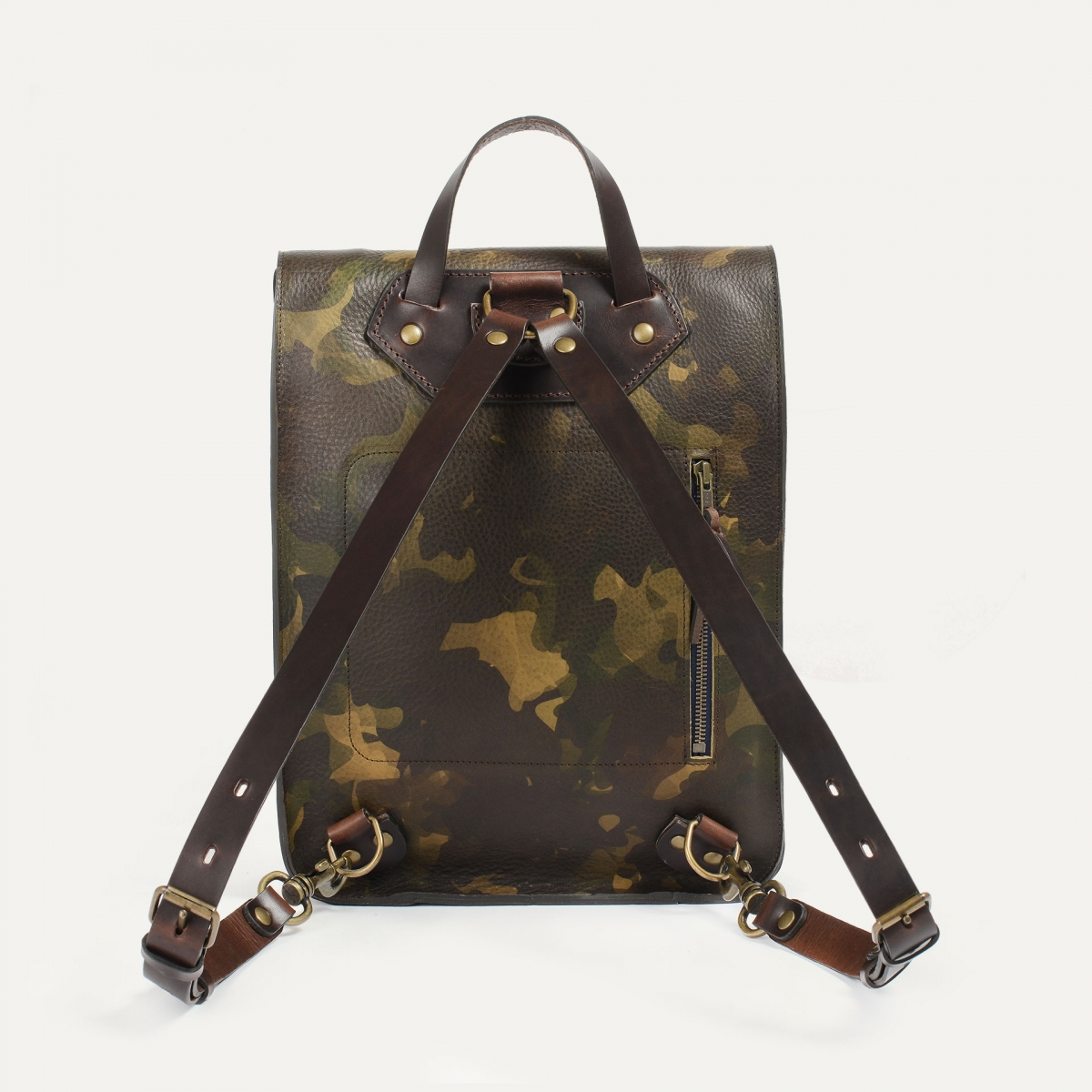 Puncho leather backpack - Camo (image n°3)