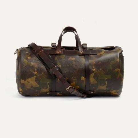 Leather 'Bivouac' bag - Camo
