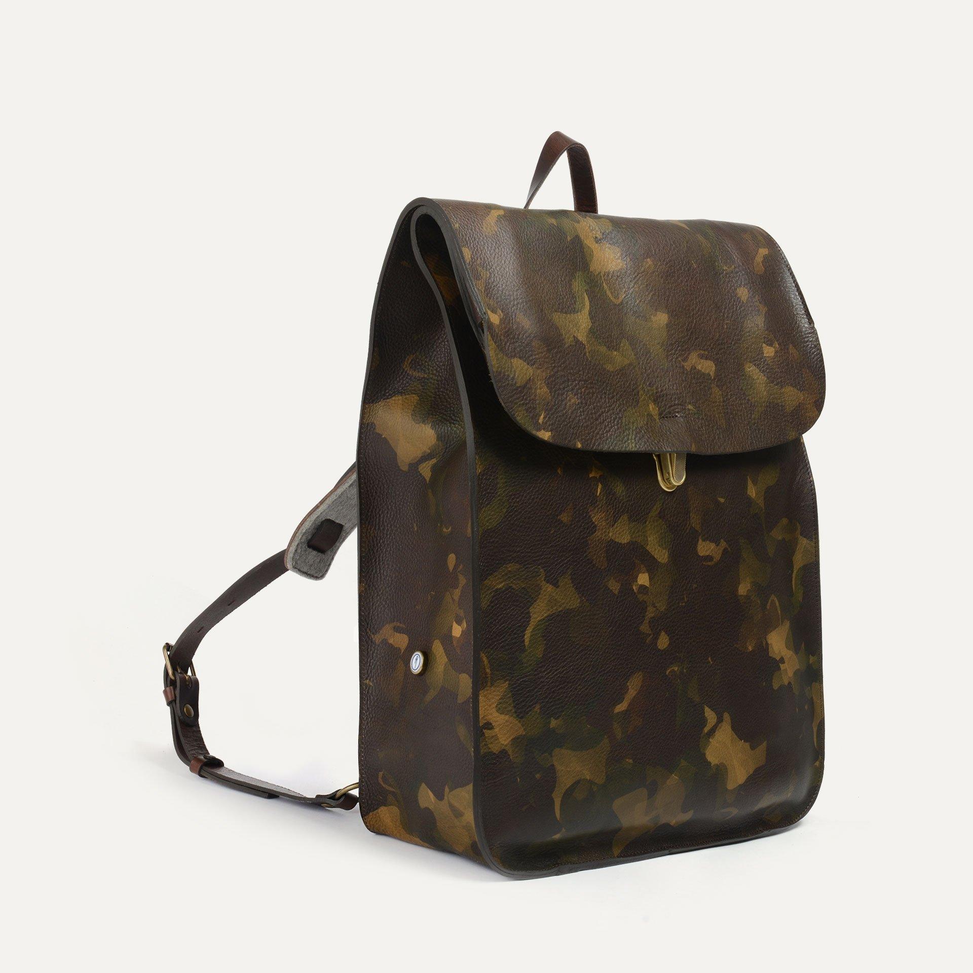 Arlo leather backpack - Camo / E Pure (image n°2)