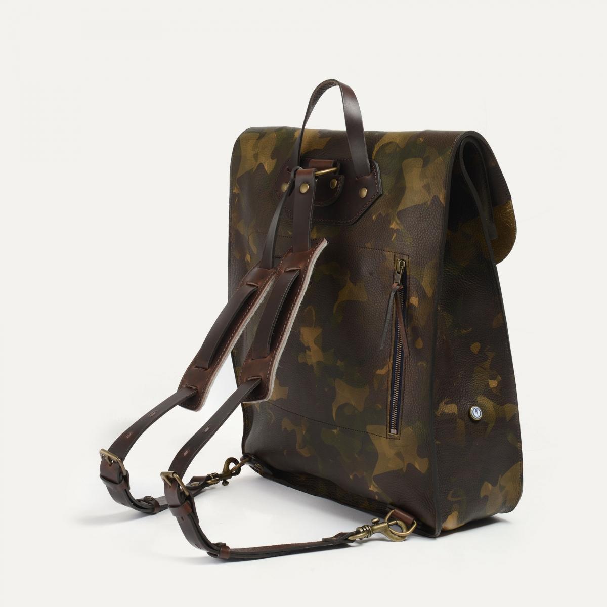 Arlo leather backpack - Camo / E Pure (image n°3)