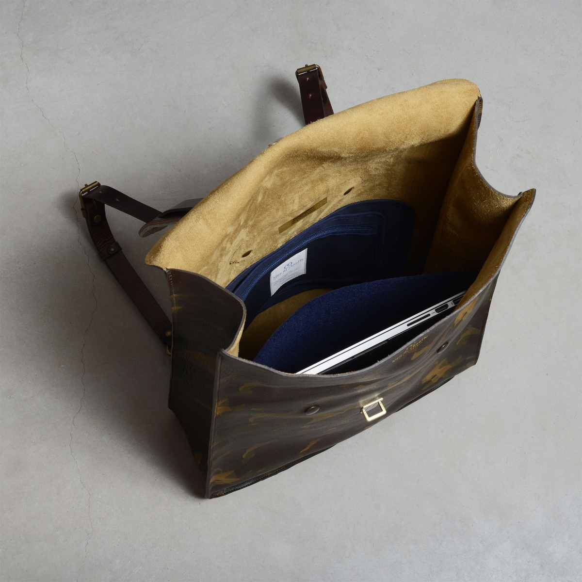 Arlo leather backpack - Camo / E Pure (image n°4)