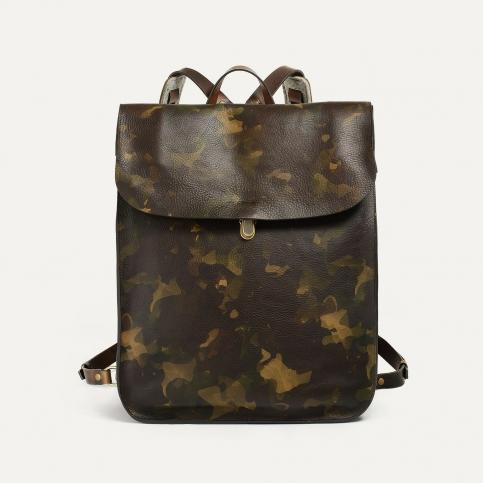 Arlo leather backpack - Camo / E Pure