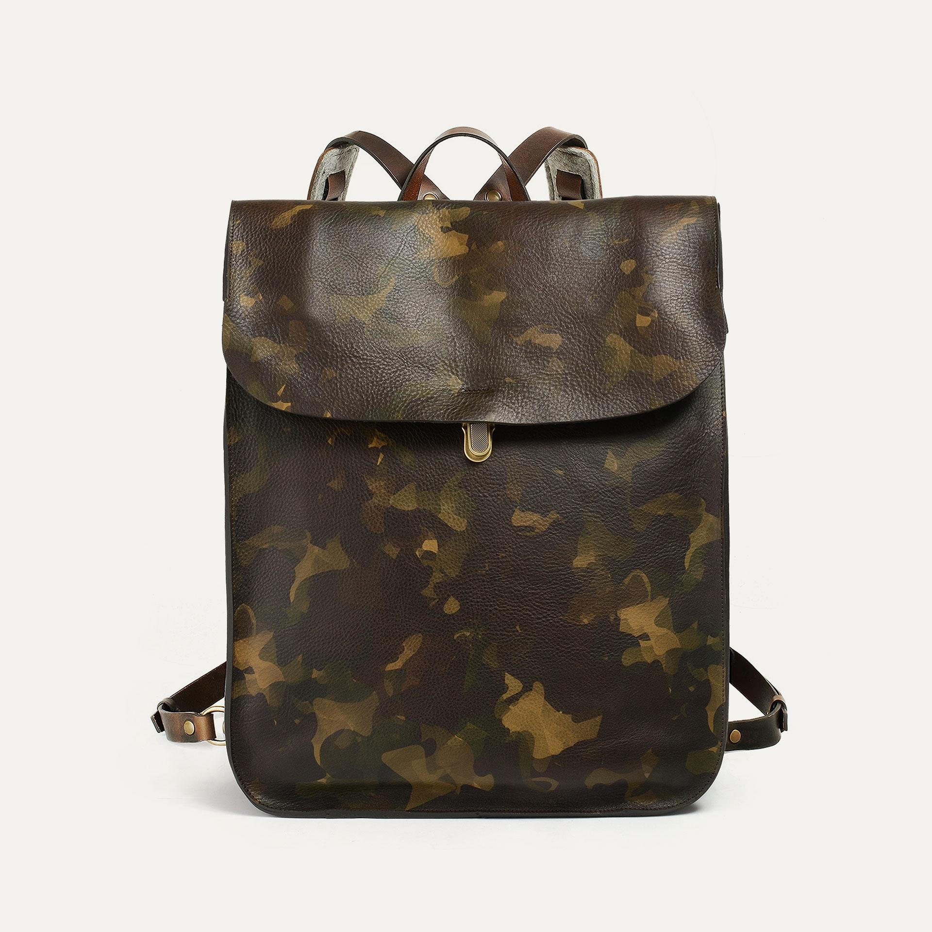 Arlo leather backpack - Camo / E Pure (image n°1)