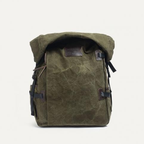 20L Basile Backpack - Dark khaki stonewashed