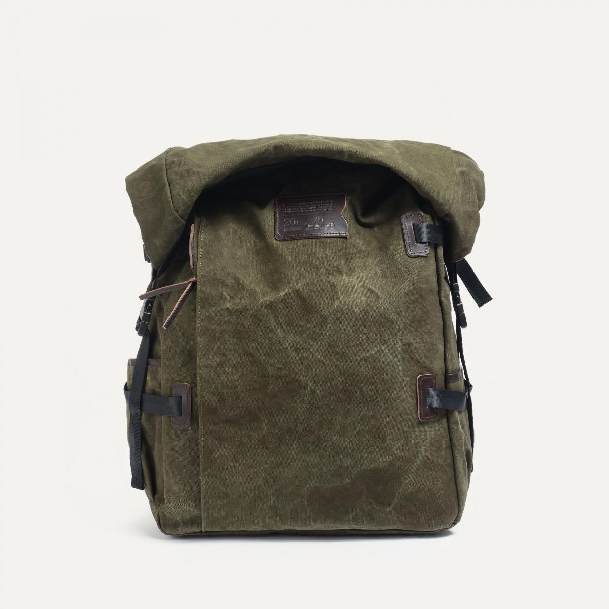 20L Basile Backpack - Dark khaki stonewashed (image n°1)