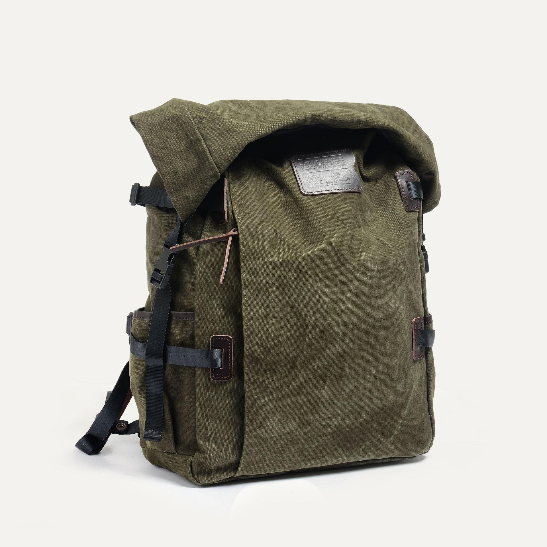 20L Basile Backpack - Dark khaki stonewashed (image n°2)