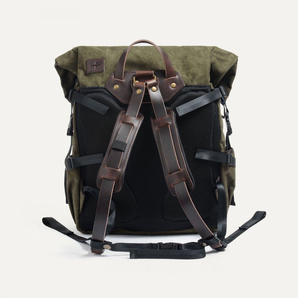 20L Basile Backpack - Dark khaki stonewashed (image n°3)