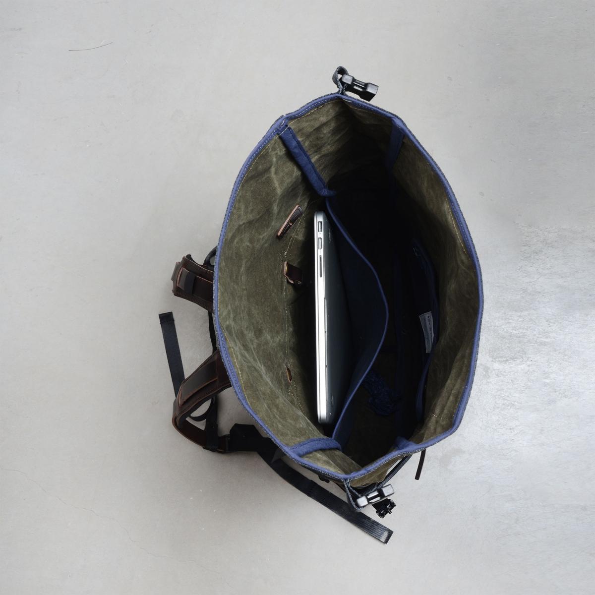 20L Basile Backpack - Dark khaki stonewashed (image n°4)