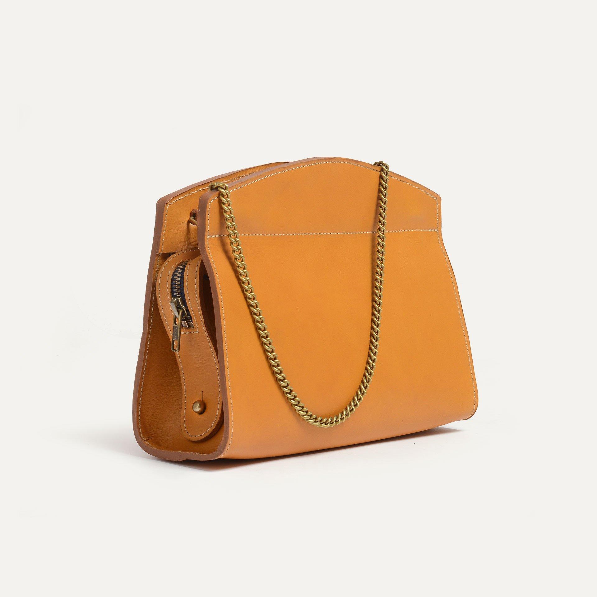 Origami S Zipped clutch bag - Honey (image n°4)
