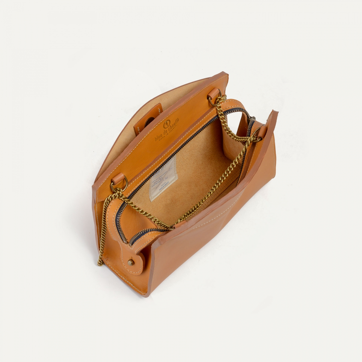 Origami S Zipped clutch bag - Honey (image n°5)
