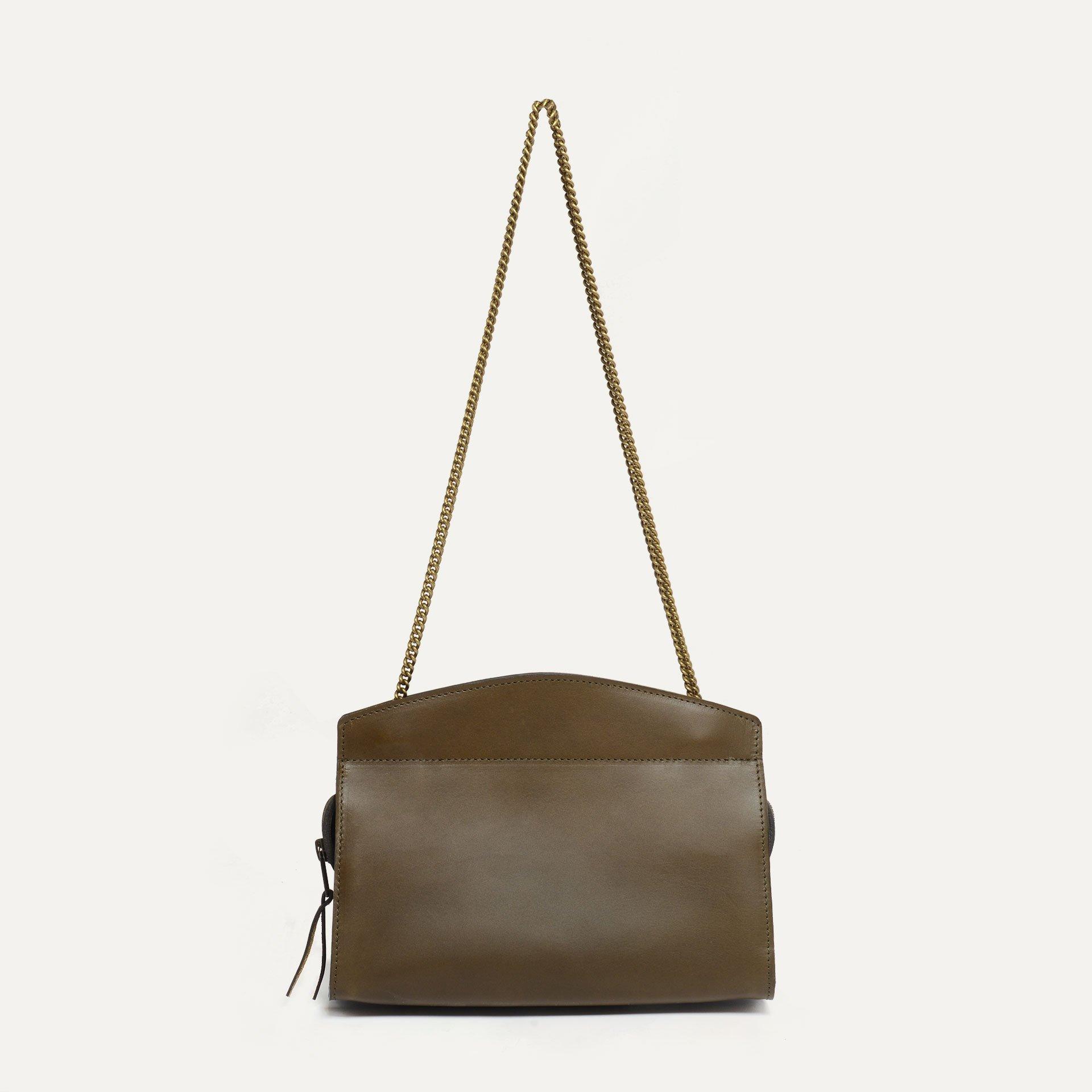 Origami S Zipped clutch bag - Khaki (image n°1)