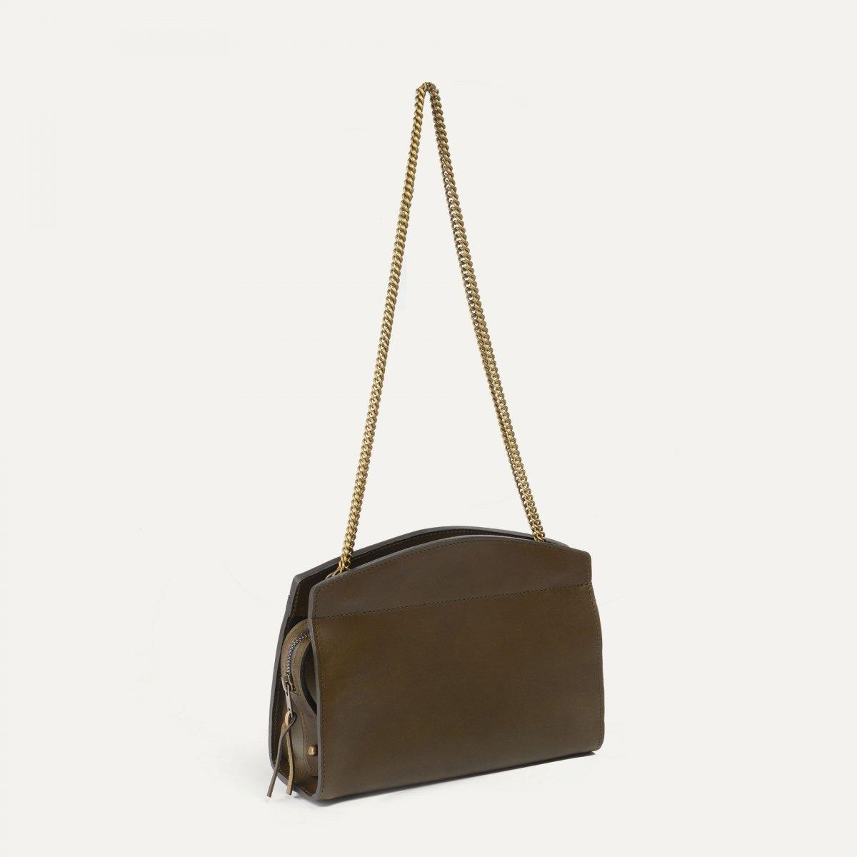 Origami S Zipped clutch bag - Khaki (image n°2)
