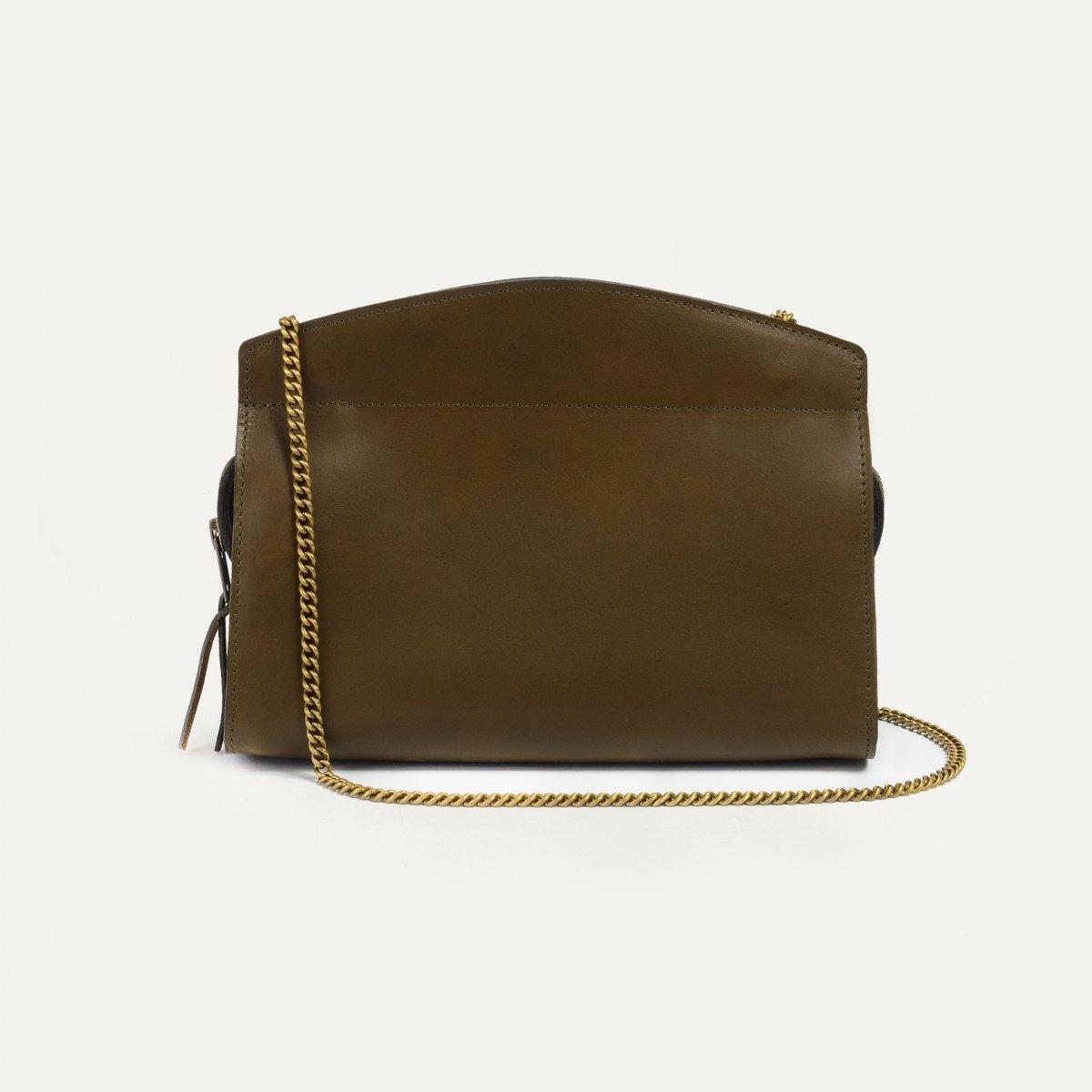 Origami S Zipped clutch bag - Khaki (image n°3)