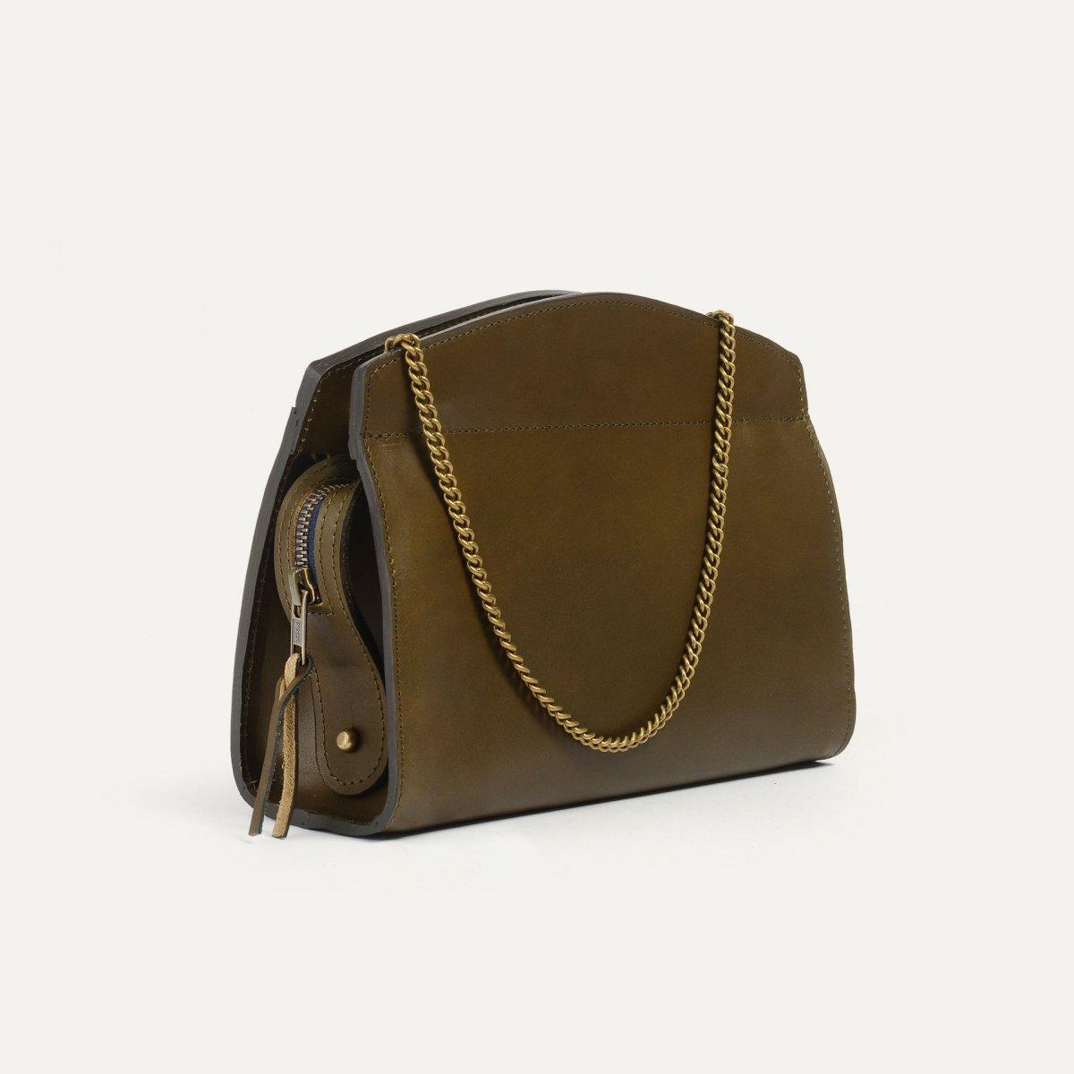 Origami S Zipped clutch bag - Khaki (image n°4)