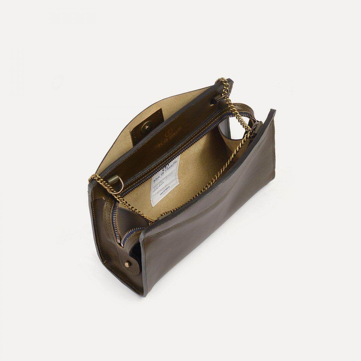Origami S Zipped clutch bag - Khaki (image n°5)