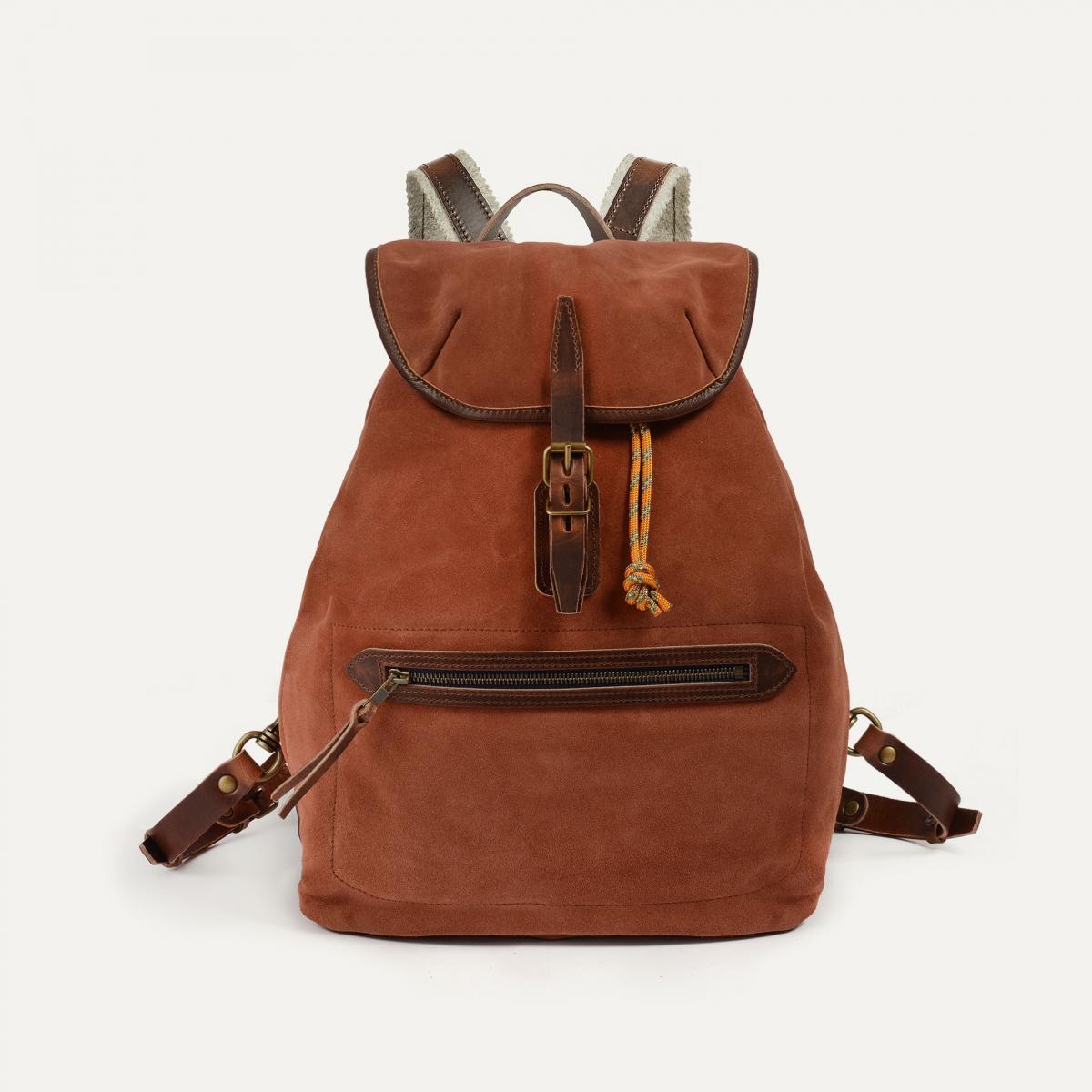 Camp backpack / Suede - Rust (image n°1)