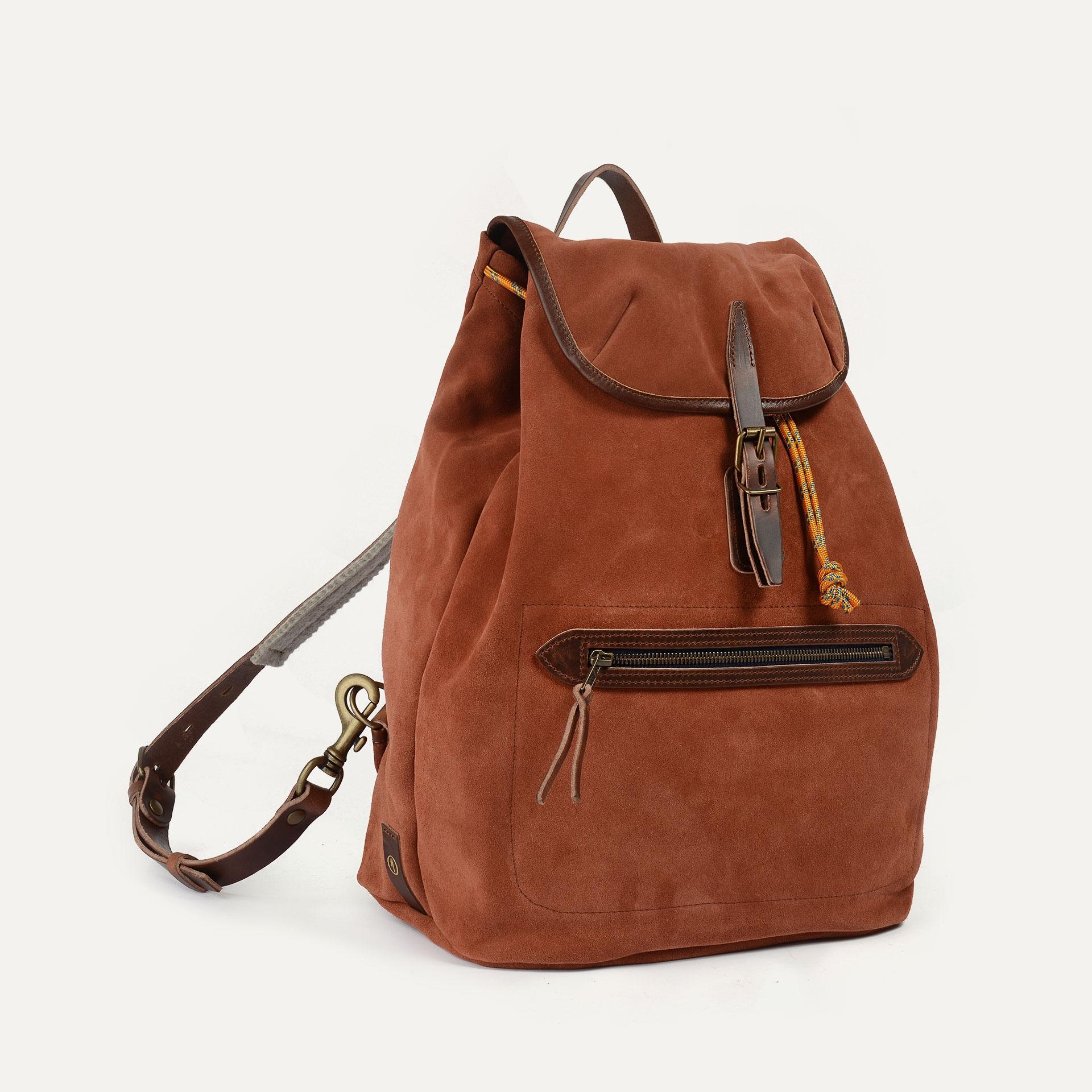 Camp backpack / Suede - Rust (image n°2)