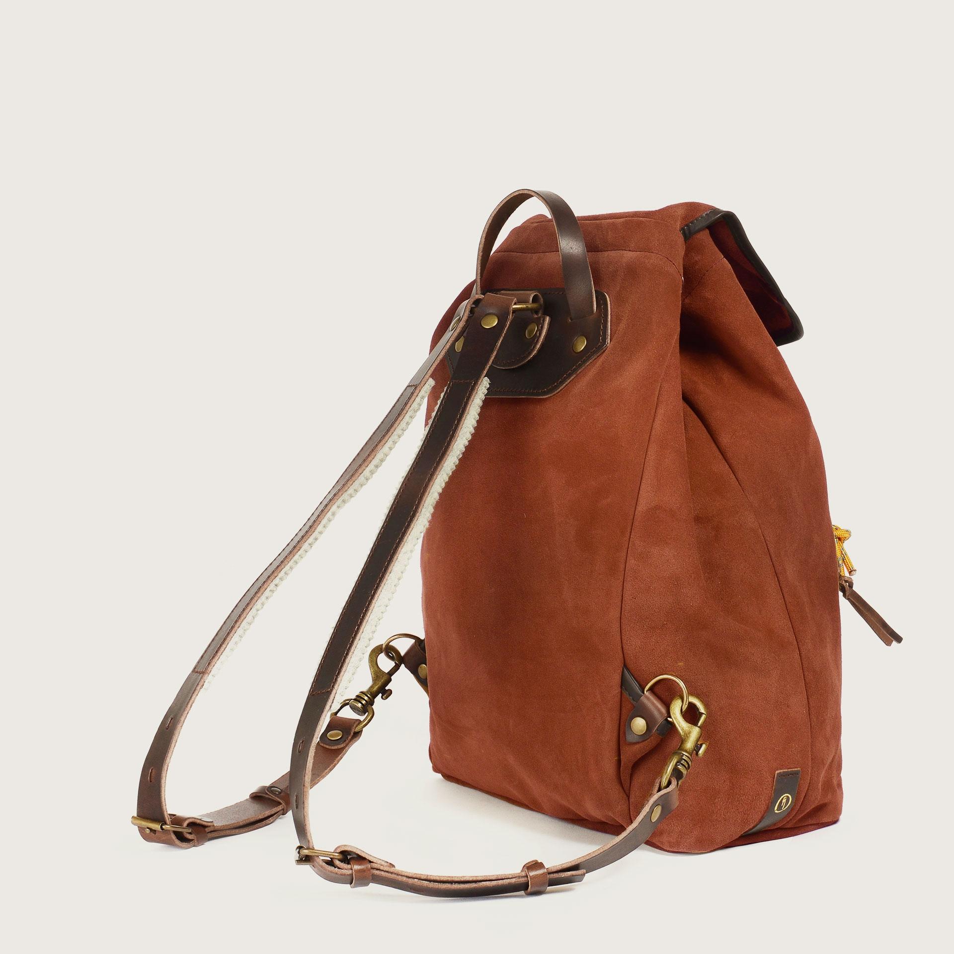 Camp backpack / Suede - Rust (image n°3)