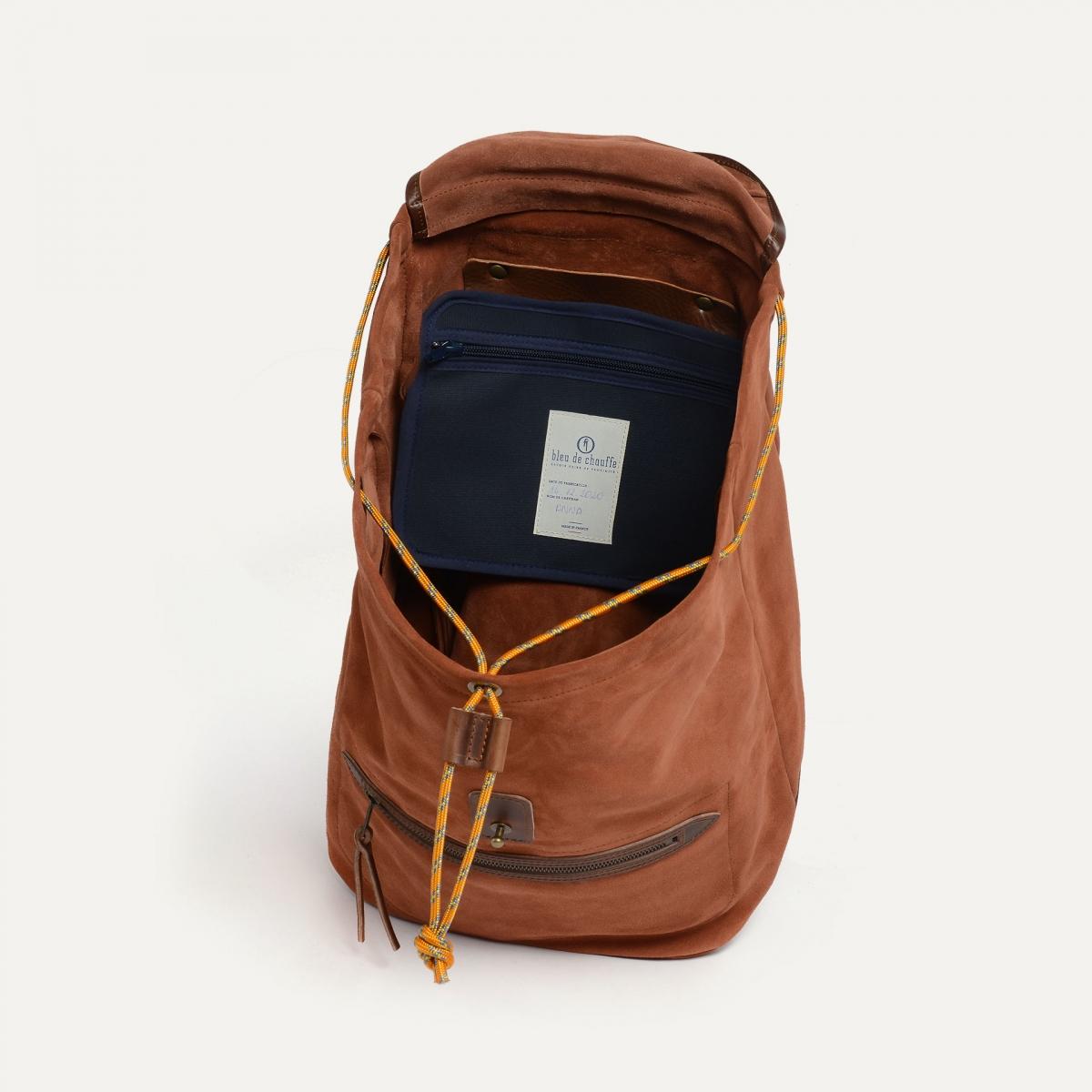 Camp backpack / Suede - Rust (image n°4)