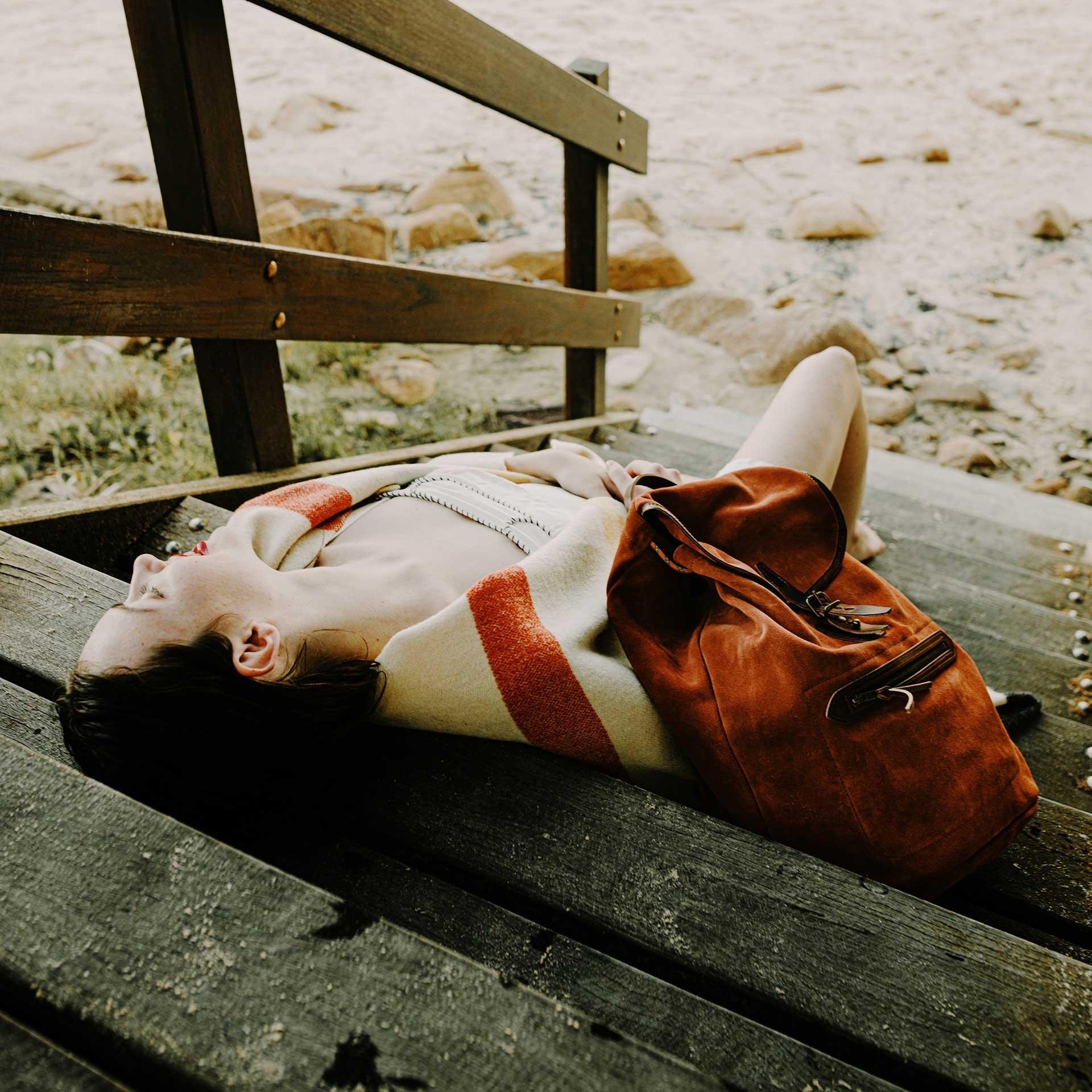 Camp backpack / Suede - Rust (image n°6)