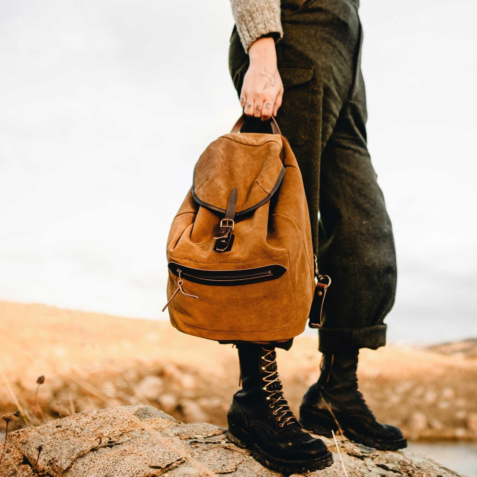 Camp backpack / Suede - Tobacco (image n°6)