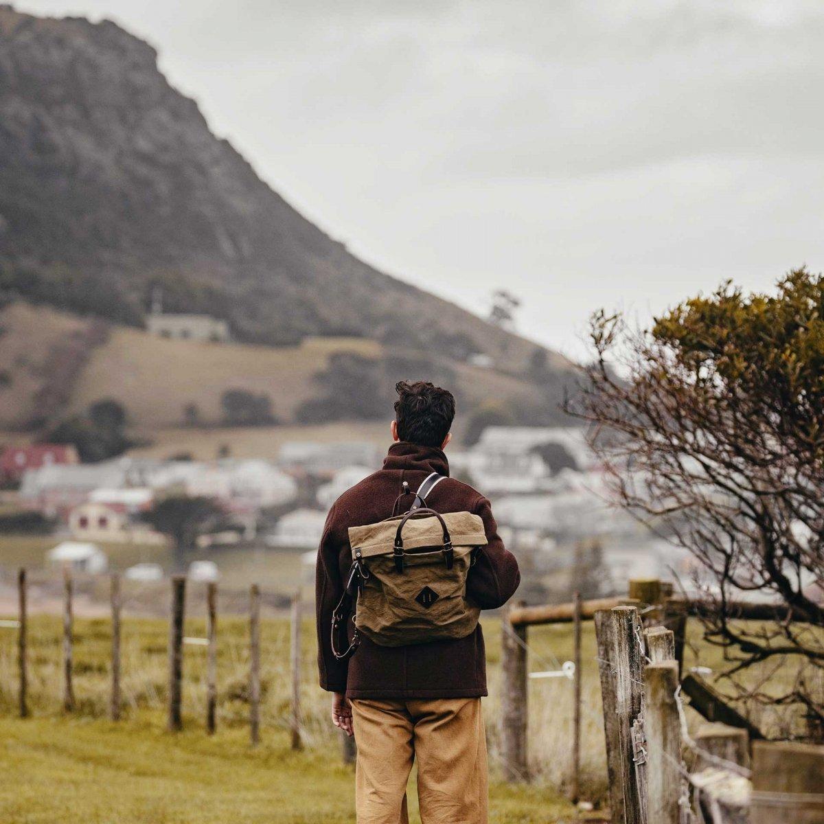 Woody M Backpack - Khaki stonewashed (image n°5)