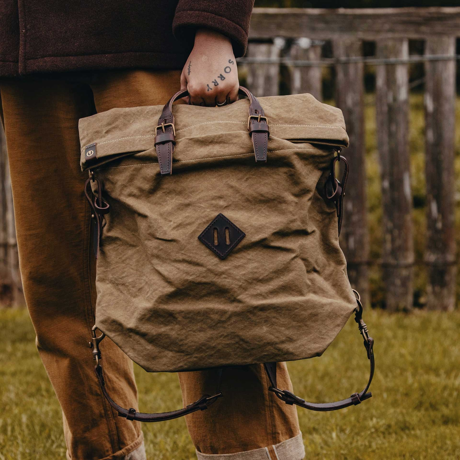 Woody M Backpack - Dark Khaki (image n°6)